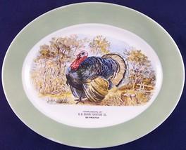 "Vintage G.D. Duhon Furniture Co. Small 13-1/2"" Turkey Platter Advertising - £15.66 GBP"