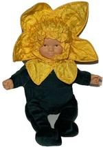 Anne Geddes Doll Baby Sunflowers Plush Bean Bag 1999 Stuffed Hard Face &... - $12.90