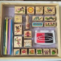 Melissa & Doug Stamp A Scene Fairy Garden - Wooden Stamp Set - $12.86