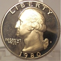 1980-S Deep Cameo Clad Proof Washington Quarter #0863 - $3.39
