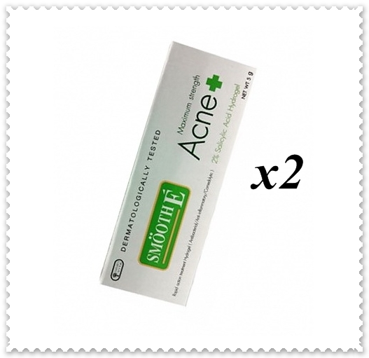 ( 2x5g) SMOOTH E ACNE HYDROGEL ADVANCE FORMULA MAXIMUM STREANGE /CLEAR ACNE FAST