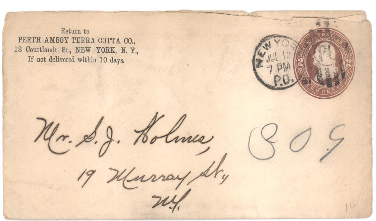 Stamped envelope perth amboy