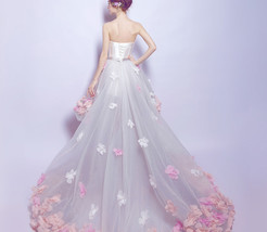 Fashion High Low Prom Dress Strapless Women Wedding Party Gowns 2019 Homecoming image 6
