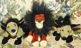 """Disney Lion King Hyena Ed Banzai Shenzi & Scar 8"""" Plush Bean Bag Lot of ... - $70.07"""