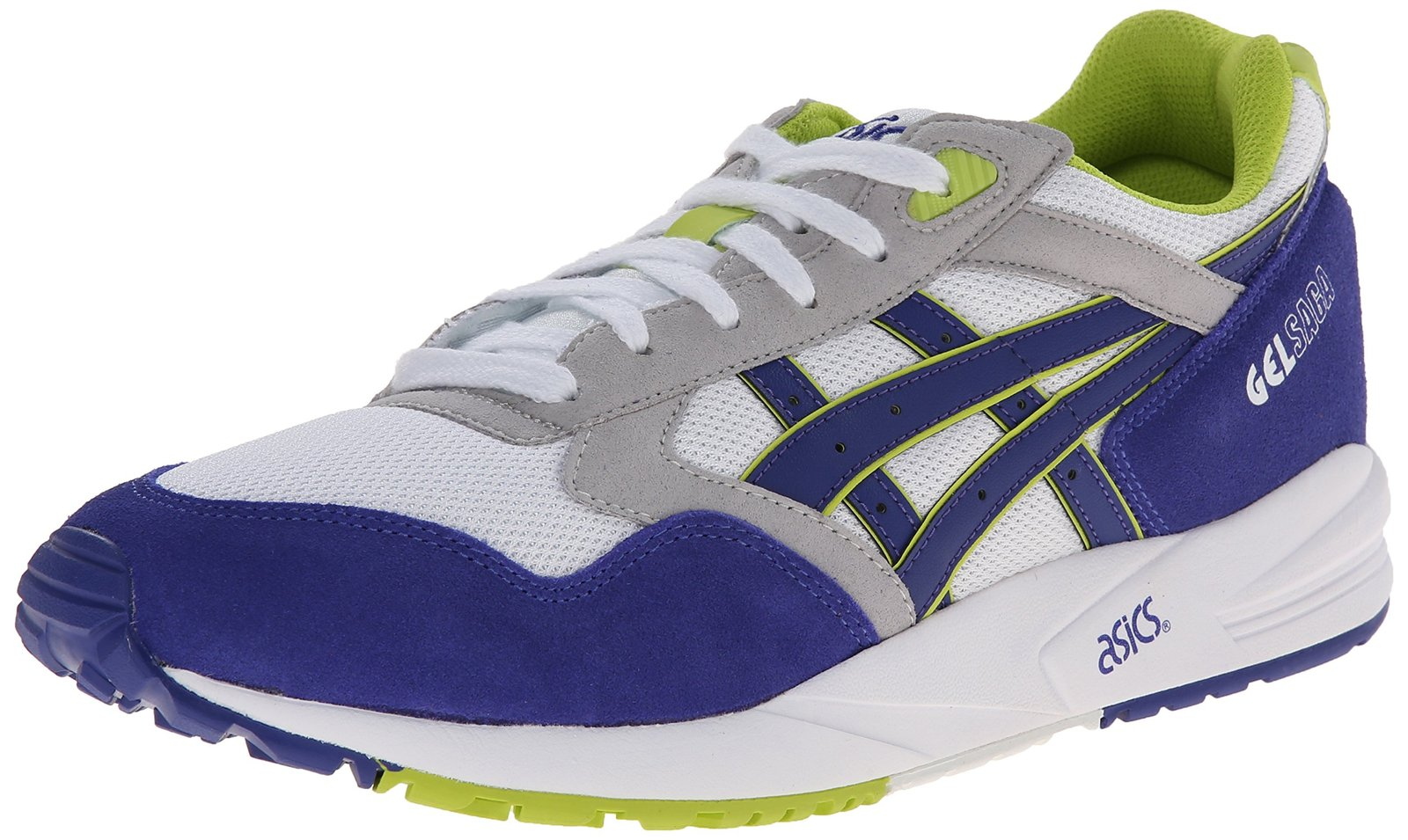 ASICS Gel-saga Retro Running Shoe, White/Dark Blue, 5.5 M US