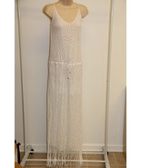 NWT PILYQ Barcelona Swimsuit Bikini Cover Up Maxi Dress Sz M/L White - $60.84