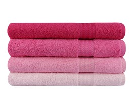 4 PIECES OF BATH TOWEL - SHADES OF PINK - $39.99