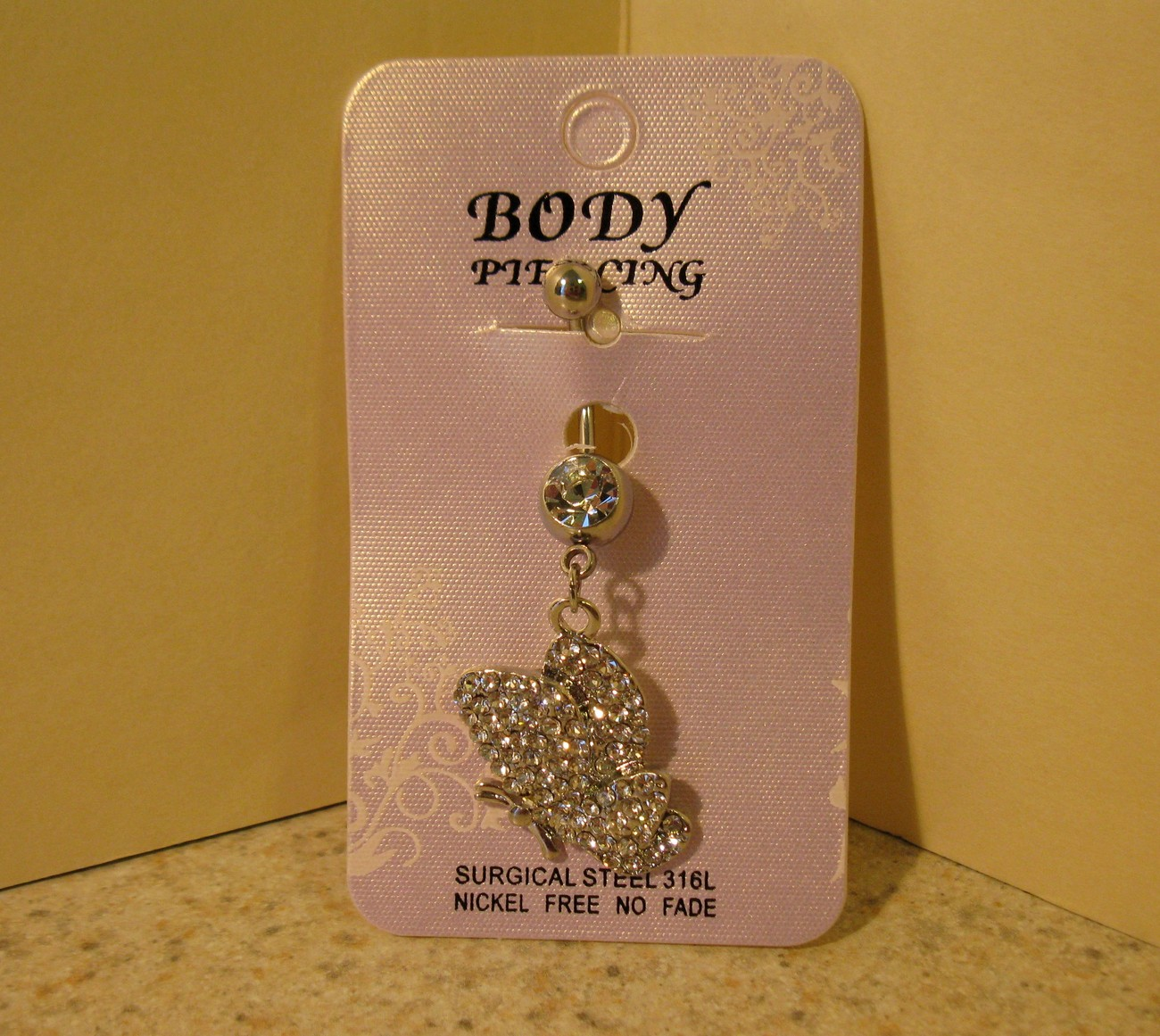 435 butterfly belly ring
