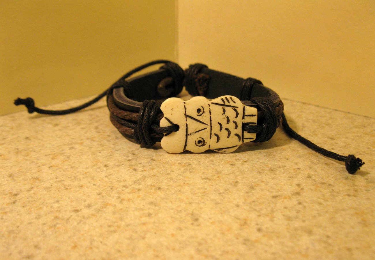 422 black owl bracelet