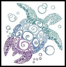 Turtle Silhouette cross stitch chart Artecy Cross Stitch Chart - $14.40