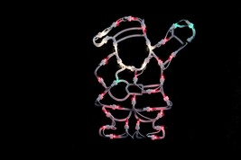 "Northlight 13"" Lighted Santa Christmas Double Sided Window Silhouette De... - £9.53 GBP"