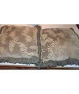 Pair of Green Print Fringed Throw Pillows   18 x 18 - $49.95