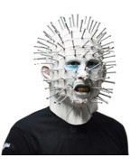 Scary Pinhead Masks Hellraiser Movie Cosplay Latex Adult Party Masks for... - $44.00 CAD