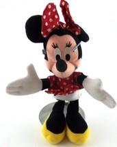 Applause Disney MINNIE MOUSE Plush Bean Bag Red  White Polka Dots Stuffe... - $3.46