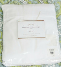 Pottery Barn Cameron Cotton Drape Curtain 50 x 124 White Pole Top New wi... - $86.33