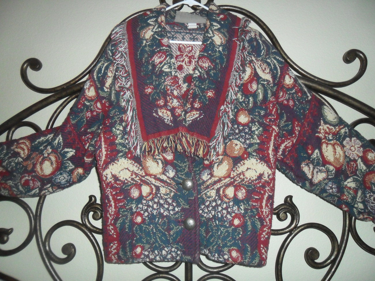 Painted Pony Vintage Tapestry Jacket Made in Texas