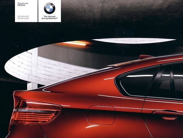 Primary image for 2008 BMW X6 sales brochure catalog US 08 xDrive 35i 50i