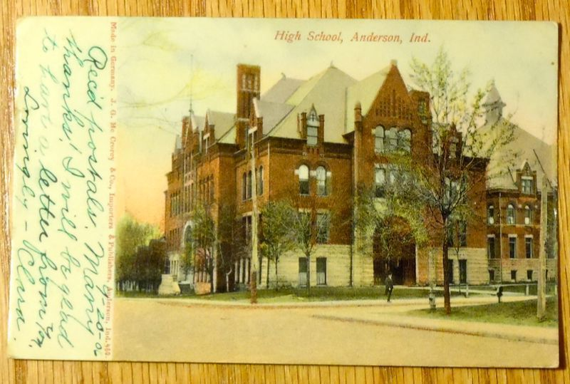 1906 - High School - Anderson IN - Used Postcard
