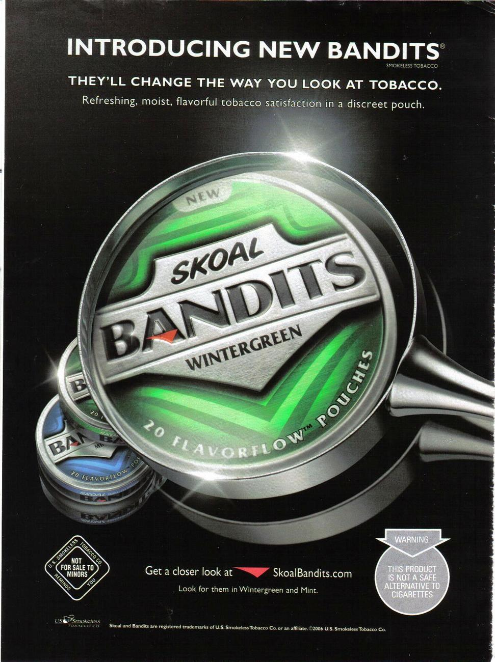 Skoal Bandits Wintergreen Pouches Full Page and 50 similar items