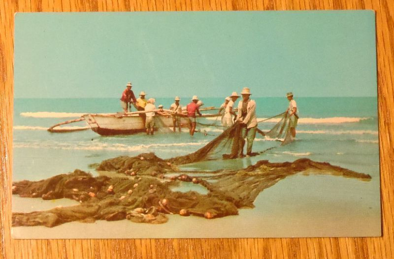 c1950s - Fishing in the Philippines - Unused Postcard