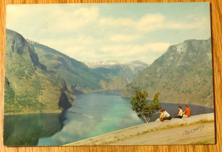 Primary image for c1950s - Norway - The Aurlandsfjord, Sogn - Used Postcard
