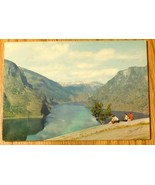 c1950s - Norway - The Aurlandsfjord, Sogn - Used Postcard - $4.99