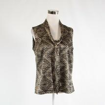 Black beige geometric ANNE KLEIN sleeveless blouse M - $24.99