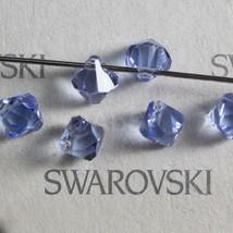 12 pieces Swarovski 6301 Top Drilled 6mm Bicone Pendant Crystal Light Sa... - $3.00