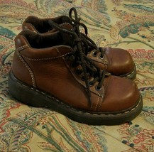Dr Martens Women's Ankle Boots 8542 Air Wair Brown Leather Size 7 US - $41.58