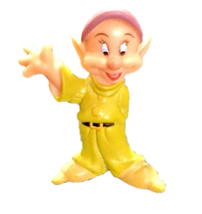 Disney Dopey Dwarf Snow White Yellow Suit Delightful PVC Figure / Cake T... - $3.95