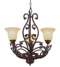 Rustic Wrought Iron Chandelier Trans Globe Lighting Entry Foyer Hall Light - €240,77 EUR