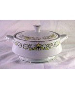 """Sterling China Florentine 2 Quart Round Footed Covered Serving Bowl 7 5/8"""" - $17.00"""