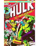 Marvel Comic Cover Stand-Up Display - Incredible Hulk vs WOLVERINE No.181  - $16.99