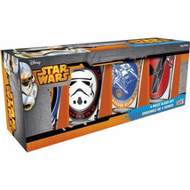 Star Wars The Force Awakens Photo Images 10 ounce Pint Glass Set of 4 NE... - $17.41