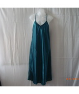 Long size 14 silk-like teal nightgown with spaghetti straps - $11.25