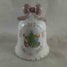 Enesco Precious moments Avon Christmas bell 1997 birth of Jesus New in Box - $9.89