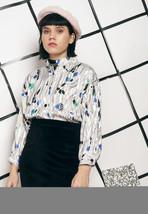 80s vintage crazy print blouse - $28.42