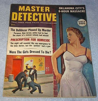 Master Detective Crime Magazine September 1960 Joe Little Cover