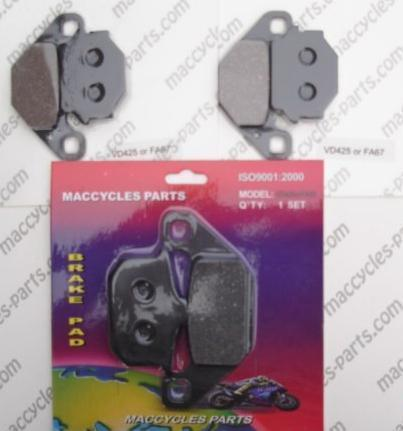 Kawasaki Disc Brake Pads KR250 KR-1 1985 Front & Rear (3 sets)