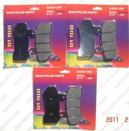 Disc Brake Pads for the Harley FLHR FLHRC Road King 2007-10 Front & Rear 3 sets