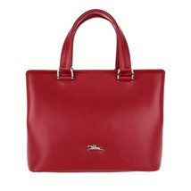NWT LONGCHAMP Honore 404 Sml Leather Satchel Shoulder Bag RED $550 AUTHE... - $428.00