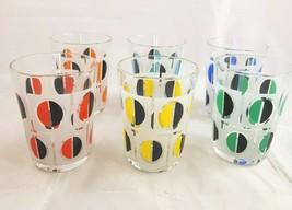 Vtg MCM Juice Glasses Made in France Mid Century Modern Set of 6 Kitsch ... - $32.90