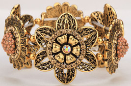 Flower Sunflower Stretch Bracelet For Women Summer Cute Cuff Fashion Jewelry F02 - $10.99