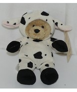 GANZ Brand H13381 Wee Collection Black White Cow Suit Bear - $9.99