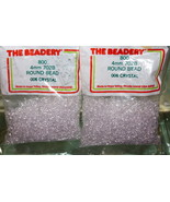 4mm ROUND BEADS THE BEADERY PLASTIC CRYSTAL 2 PACKAGES 1,600 COUNT - $3.99