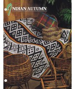 Indian Autumn Blanket, Annie's Crochet Quilt & Afghan Pattern Leaflet QA... - $5.95