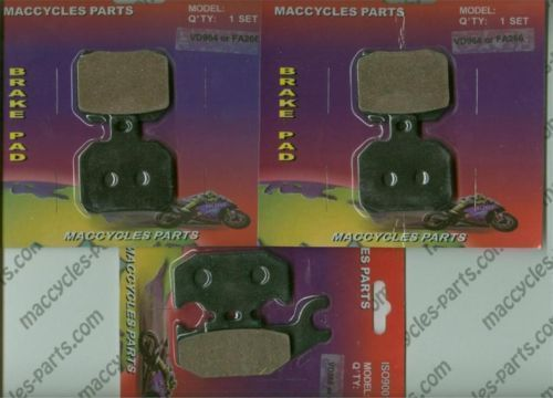 Bombardier Disc Brake Pads Traxster/500 2001 Front & Rear (3 sets)