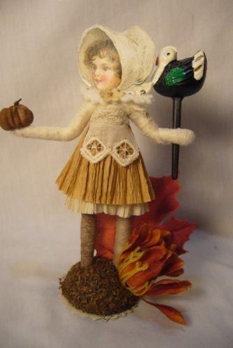 Vintage Inspired Spun Cotton Pilgrim Girl  no. 289