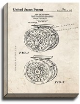 Reel For Fly Fishing Patent Print Old Look on Canvas - $39.95+