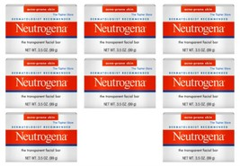 8 Neutrogena Acne Prone Facial Cleansing Bar Soap, 3.5 oz Each - Full Size - $49.86